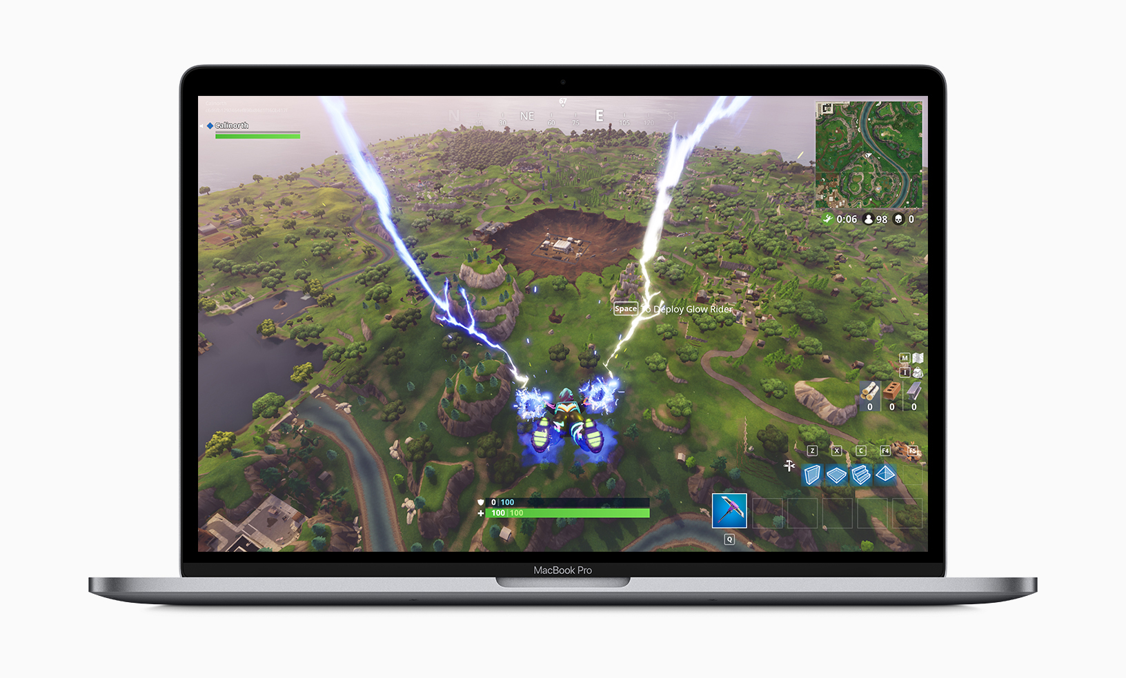Gaming is also possible on the Macbook Pro 2019