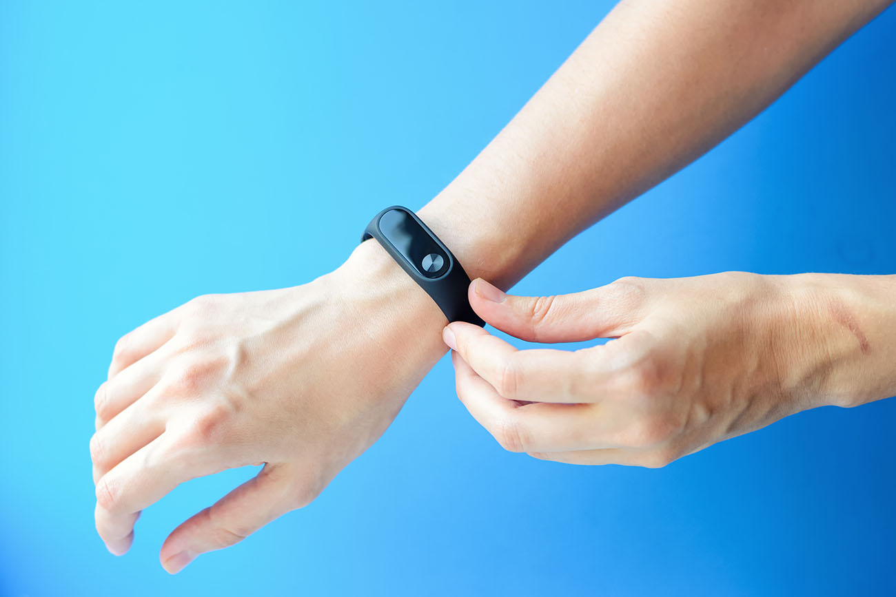 Fitness Tracker on arm