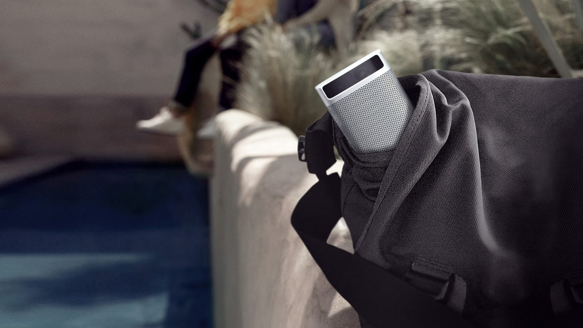 Mini Projector fits in backpack