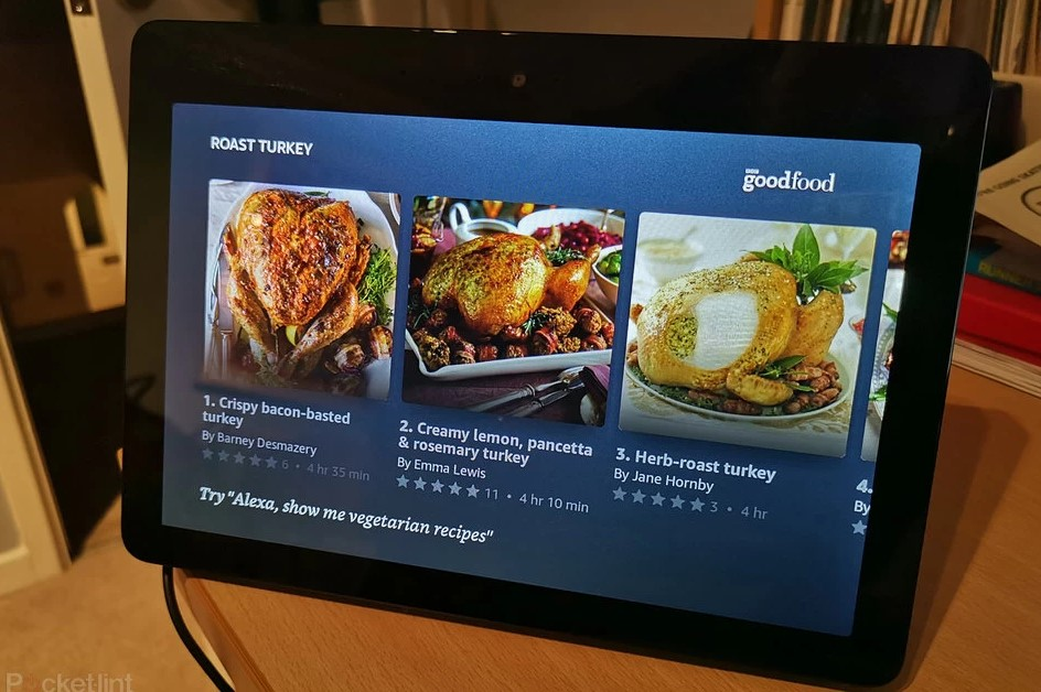 Amazon Echo Show in the kitchen