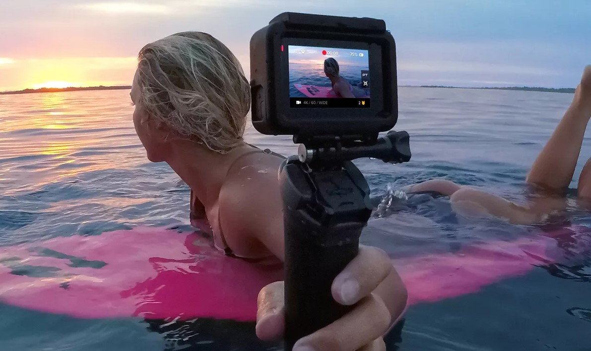 GoPro in the water